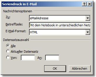 nachricht versenden an alle email