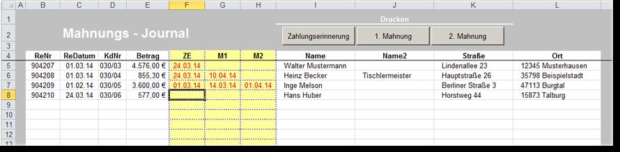 Mahnungstool Mit Excel Vollautomatisch Mahnschreiben Erstellen